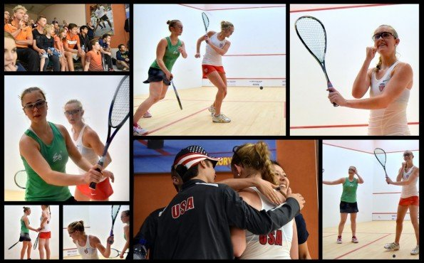 Girls Round Two concludes with a big upset as Kayley Leonard beats 5/8 seed Tine Gilis 11/9 in the fifth ...